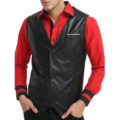 Casual Leather VestWaistcoats<br>Casual Leather Vest<br><br>Material: Polyester<br>Package Contents: 1 x Vest<br>Package size: 30.00 x 20.00 x 2.00 cm / 11.81 x 7.87 x 0.79 inches<br>Package weight: 0.4700 kg<br>Product weight: 0.4500 kg