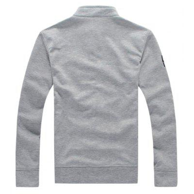 CTSmart Fashion Sweatshirt JacketMens Hoodies &amp; Sweatshirts<br>CTSmart Fashion Sweatshirt Jacket<br><br>Closure Type: Button<br>Material: Cotton, Polyester<br>Occasion: Casual<br>Package Contents: 1 x Sweatshirt Jacket<br>Package size: 35.00 x 30.00 x 2.00 cm / 13.78 x 11.81 x 0.79 inches<br>Package weight: 0.5000 kg<br>Product weight: 0.4700 kg<br>Thickness: Regular