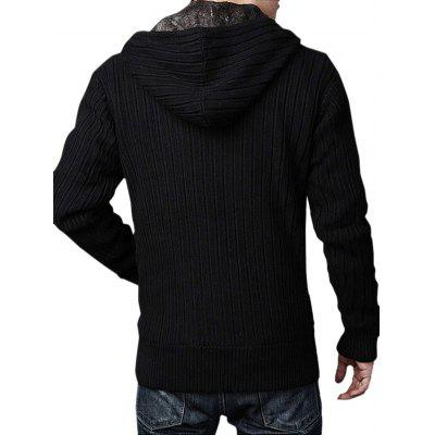 Solid Color Hooded Pile-lined Sweater CardiganMens Sweaters &amp; Cardigans<br>Solid Color Hooded Pile-lined Sweater Cardigan<br><br>Closure Type: Zipper<br>Material: Cotton Blends, Polyester<br>Occasion: Casual<br>Package Contents: 1 x Sweater Cardigan<br>Package size: 35.00 x 25.00 x 2.00 cm / 13.78 x 9.84 x 0.79 inches<br>Package weight: 1.4200 kg<br>Product weight: 1.4000 kg<br>Thickness: Thick
