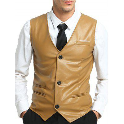 Casual Leather Vest