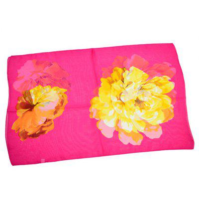 Skin-friendly Peony Printed Chiffon ScarfWomens Scarves<br>Skin-friendly Peony Printed Chiffon Scarf<br><br>Material: Chiffon<br>Package Content: 1 x Scarf<br>Package Dimension: 30.00 x 40.00 x 2.00 cm / 11.81 x 15.75 x 0.79 inches<br>Package weight: 0.0500 kg<br>Product weight: 0.0450 kg<br>Scarf Length: 155cm<br>Scarf Width (CM): 50cm<br>Season: Winter, Spring, Fall<br>Style: Formal, Fashion, Casual