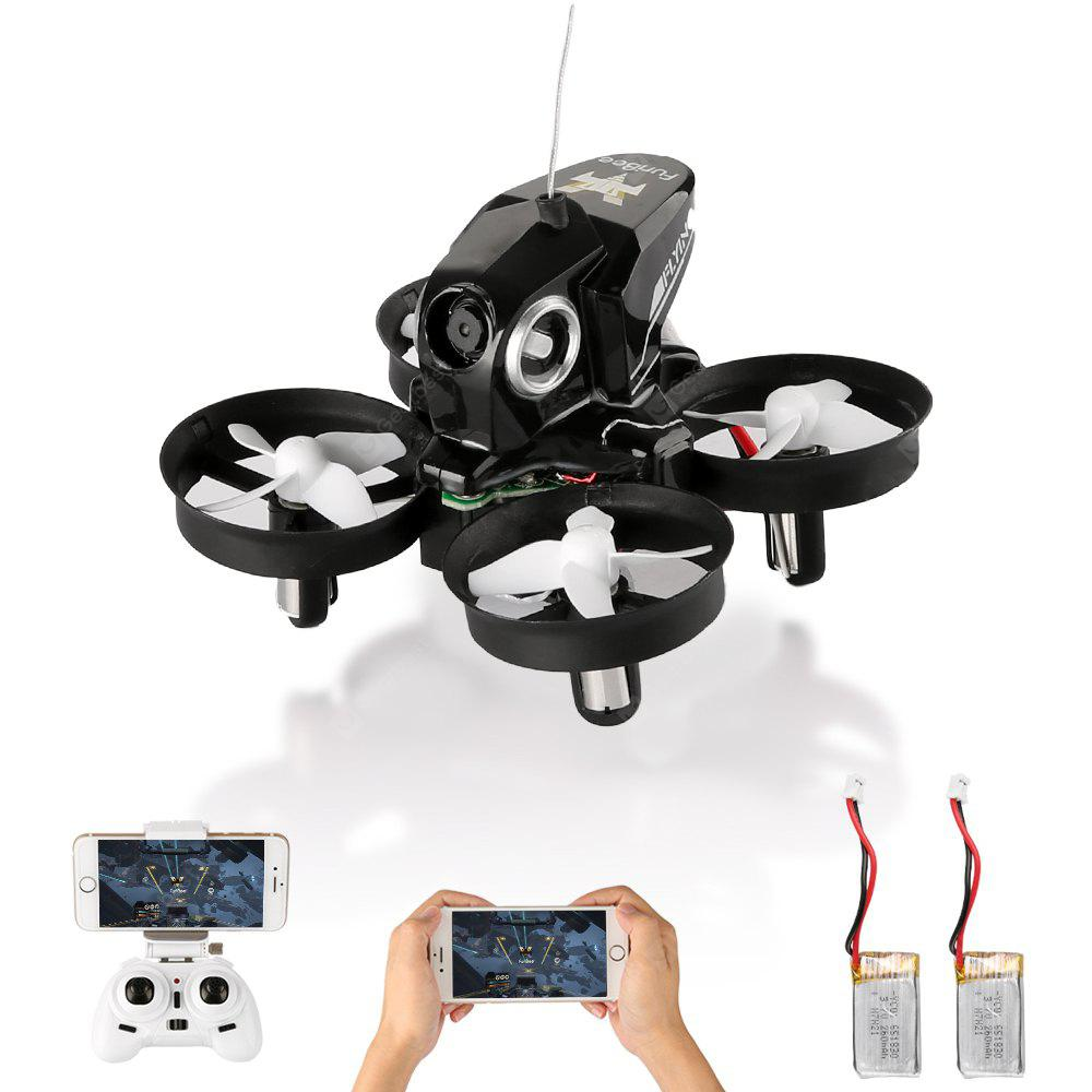 H801 720P 2.4GHz 4CH 6 Axis Gyro WiFi FPV Remote Control Quadcopter WiFi FPV - BLACK WITH 2 BATTERIES