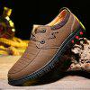 Men Stylish Daily Grained Casual Leather Shoes - CáQUI ESCURO