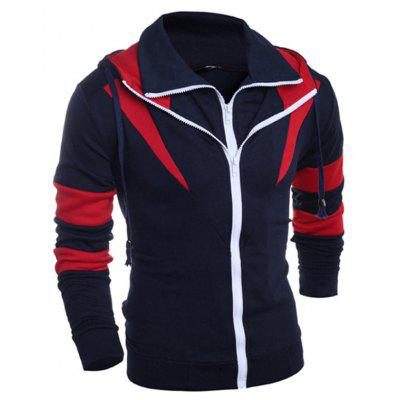 Fake Two Piece Splicing Hoodie JacketMens Hoodies &amp; Sweatshirts<br>Fake Two Piece Splicing Hoodie Jacket<br><br>Closure Type: Zipper<br>Clothes Type: Hoodie Jacket<br>Material: Cotton, Polyester<br>Occasion: Casual<br>Package Contents: 1 x Hoodie Jacket<br>Package size: 30.00 x 20.00 x 2.00 cm / 11.81 x 7.87 x 0.79 inches<br>Package weight: 0.4500 kg<br>Product weight: 0.4300 kg<br>Thickness: Regular
