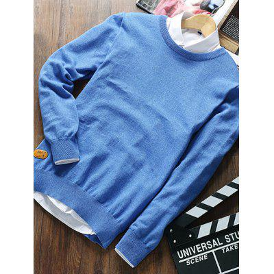 Men Fashion Round Collar Knitting Sweater поло springfield springfield sp014emaiic7