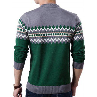 Male Fashion Round Collar Knitting SweaterMens Sweaters &amp; Cardigans<br>Male Fashion Round Collar Knitting Sweater<br><br>Material: Polyester<br>Occasion: Casual<br>Package Contents: 1 x Knitting Sweater<br>Package size: 35.00 x 25.00 x 2.00 cm / 13.78 x 9.84 x 0.79 inches<br>Package weight: 0.4200 kg<br>Product weight: 0.4000 kg<br>Thickness: Regular
