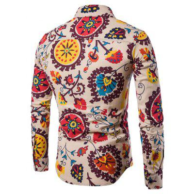 CTSmart Retro Patterns Long Sleeves ShirtMens Shirts<br>CTSmart Retro Patterns Long Sleeves Shirt<br><br>Brand: CTSmart<br>Closure Type: Button<br>Material: Cotton, Linen<br>Occasion: Casual<br>Package Contents: 1 x Shirt<br>Package size: 26.00 x 20.00 x 1.00 cm / 10.24 x 7.87 x 0.39 inches<br>Package weight: 0.4700 kg<br>Product weight: 0.4500 kg<br>Thickness: Regular