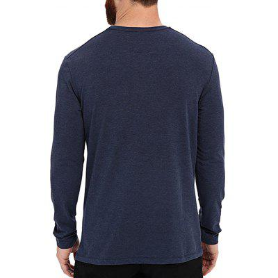 Male Casual Long Sleeve T-shirtMens Long Sleeves Tees<br>Male Casual Long Sleeve T-shirt<br><br>Material: Cotton, Cotton Blend<br>Neckline: Round Collar<br>Package Content: 1 x T-shirt<br>Package size: 35.00 x 25.00 x 2.00 cm / 13.78 x 9.84 x 0.79 inches<br>Package weight: 0.2700 kg<br>Product weight: 0.2500 kg<br>Season: Spring, Autumn<br>Sleeve Length: Long Sleeves<br>Style: Fashion, Casual