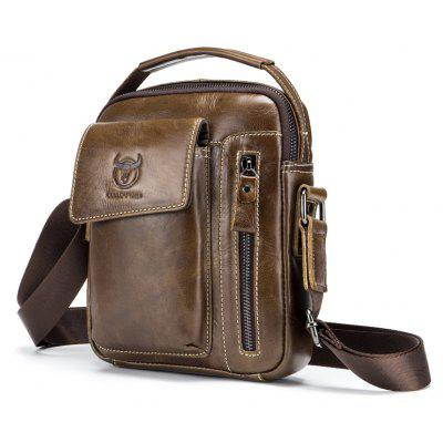 BULLCAPTAIN Men Genuine Leather Shoulder Bag runner 250 z 03 bottom main board carbon fiber board spare parts