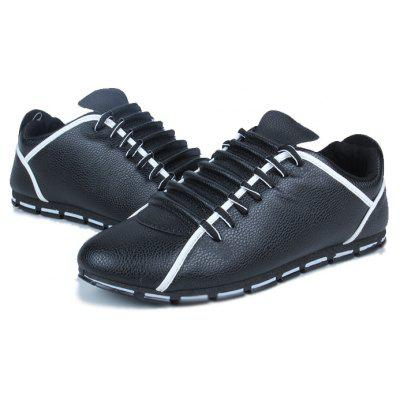 Casual Lace-up Slip Resistant PU ShoesMen's Sneakers<br>Casual Lace-up Slip Resistant PU Shoes<br><br>Closure Type: Lace-Up<br>Contents: 1 x Pair of Shoes<br>Materials: PU, Rubber<br>Occasion: Party, Office, Holiday, Daily, Casual<br>Outsole Material: Rubber<br>Package Size ( L x W x H ): 30.00 x 22.00 x 10.00 cm / 11.81 x 8.66 x 3.94 inches<br>Package weight: 0.7000 kg<br>Product weight: 0.6500 kg<br>Seasons: Autumn,Spring<br>Style: Leisure, Fashion, Comfortable<br>Type: Casual Shoes<br>Upper Material: PU