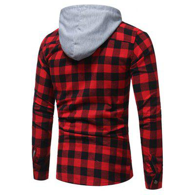 Men Trendy Plaid Long Sleeve JacketMens Jackets &amp; Coats<br>Men Trendy Plaid Long Sleeve Jacket<br><br>Closure Type: Button<br>Clothes Type: Jackets<br>Collar: Hooded<br>Embellishment: Others<br>Materials: Cotton, Polyester<br>Occasion: Daily Use, Going Out<br>Package Content: 1 x Jacket<br>Package Dimension: 30.00 x 20.00 x 2.00 cm / 11.81 x 7.87 x 0.79 inches<br>Package weight: 0.3700 kg<br>Pattern Type: Plaid<br>Product weight: 0.3500 kg<br>Seasons: Autumn,Spring,Summer<br>Shirt Length: Regular<br>Sleeve Length: Long Sleeves<br>Style: Fashion, Casual<br>Thickness: Medium thickness