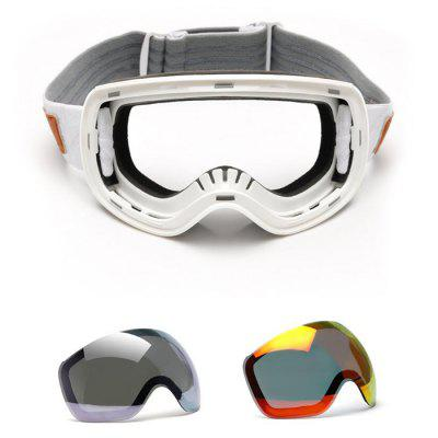 TS 001 Double Sphere Anti-fog Protective Skiing Glasses