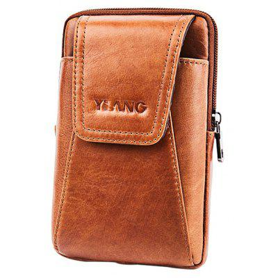 YIANG Casual Leather Cellphone Waist Bag