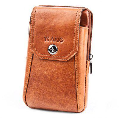 YIANG Leisure Leather Cellphone Waist Bag