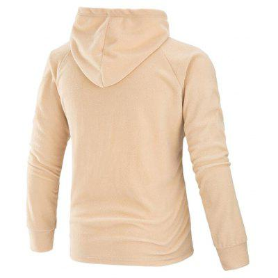 CTSmart Simple Horn Buttons HoodieMens Hoodies &amp; Sweatshirts<br>CTSmart Simple Horn Buttons Hoodie<br><br>Brand: CTSmart<br>Clothes Type: Hoodie<br>Material: Cotton, Polyester<br>Occasion: Casual<br>Package Contents: 1 x Hoodie<br>Package size: 35.00 x 30.00 x 2.00 cm / 13.78 x 11.81 x 0.79 inches<br>Package weight: 0.5300 kg<br>Product weight: 0.5100 kg<br>Thickness: Regular