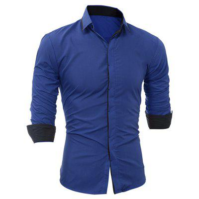 Classic Solid Color ShirtMens Shirts<br>Classic Solid Color Shirt<br><br>Closure Type: Button<br>Material: Cotton, Polyester<br>Occasion: Casual<br>Package Contents: 1 x Shirt<br>Package size: 30.00 x 25.00 x 3.00 cm / 11.81 x 9.84 x 1.18 inches<br>Package weight: 0.2300 kg<br>Product weight: 0.2100 kg<br>Thickness: Regular