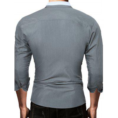 Leisure Solid Color Long Sleeve Button Down ShirtMens Shirts<br>Leisure Solid Color Long Sleeve Button Down Shirt<br><br>Closure Type: Button<br>Material: Cotton, Polyester<br>Package Contents: 1 x Shirt<br>Package size: 30.00 x 25.00 x 1.00 cm / 11.81 x 9.84 x 0.39 inches<br>Package weight: 0.2300 kg<br>Pattern: Solid Color<br>Product weight: 0.2100 kg<br>Style: Casual<br>Thickness: Regular