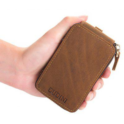 DUDINI Retro Leather Zipper Around Key Case WalletCoin Purses&amp;Holders<br>DUDINI Retro Leather Zipper Around Key Case Wallet<br><br>Brand: DUDINI<br>Closure Type: Zip<br>Features: Wearable<br>For: Traveling, Shopping, Daily Use<br>Gender: Men<br>Material: Genuine Leather<br>Package Size(L x W x H): 13.00 x 8.00 x 2.50 cm / 5.12 x 3.15 x 0.98 inches<br>Package weight: 0.1300 kg<br>Packing List: 1 x Key Case Wallet<br>Product Size(L x W x H): 12.00 x 7.00 x 1.50 cm / 4.72 x 2.76 x 0.59 inches<br>Product weight: 0.1200 kg<br>Style: Fashion, Business<br>Type: Wallet