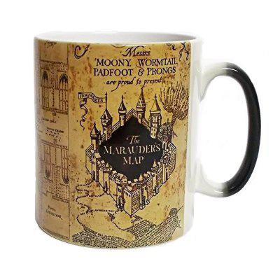 Castle Pattern Ceramic Color Changing Heat Sensitive Mug