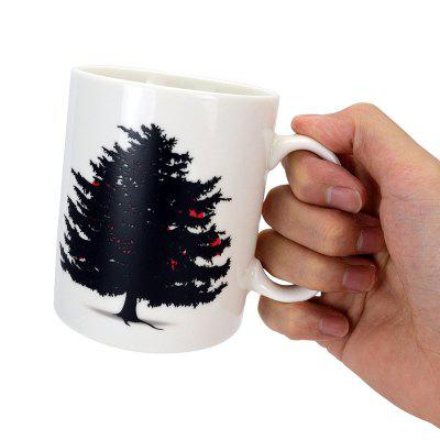 Christmas Tree Color Changing Heat Sensitive Ceramic Mug