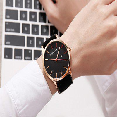 Hannah Martin KM11 Leather Band Men Quartz WatchMens Watches<br>Hannah Martin KM11 Leather Band Men Quartz Watch<br><br>Band material: Leather<br>Band size: 22 x 2.4cm<br>Brand: Hannah Martin<br>Case material: Alloy<br>Clasp type: Pin buckle<br>Dial size: 4.5 x 4.5 x 1.1cm<br>Display type: Analog<br>Movement type: Quartz watch<br>Package Contents: 1 x Watch<br>Package size (L x W x H): 24.00 x 6.50 x 3.10 cm / 9.45 x 2.56 x 1.22 inches<br>Package weight: 0.0700 kg<br>Product size (L x W x H): 22.00 x 4.50 x 1.10 cm / 8.66 x 1.77 x 0.43 inches<br>Product weight: 0.0500 kg<br>Shape of the dial: Round<br>Watch mirror: Mineral glass<br>Watch style: Fashion<br>Watches categories: Men