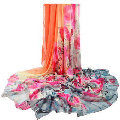 Women Graceful Flower Design Printed Long Silk ScarfWomens Scarves<br>Women Graceful Flower Design Printed Long Silk Scarf<br><br>Material: Chiffon<br>Package Content: 1 x Silk Scarf<br>Package Dimension: 30.00 x 40.00 x 1.00 cm / 11.81 x 15.75 x 0.39 inches<br>Package weight: 0.0950 kg<br>Product weight: 0.0900 kg<br>Season: Winter, Summer, Spring, Fall<br>Style: Fashion