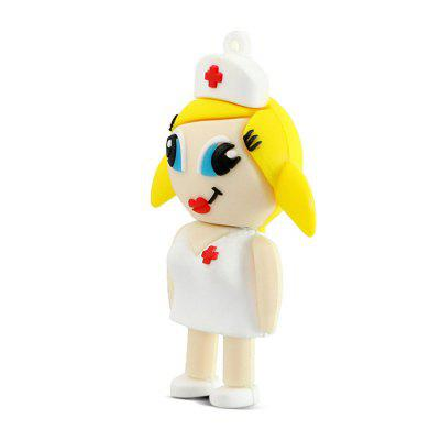 Cute Nurse Shockproof USB2.0 Flash Drive U Disk
