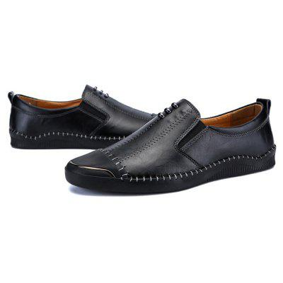Men Soft Stitching Metal Decor Casual Oxford Shoes