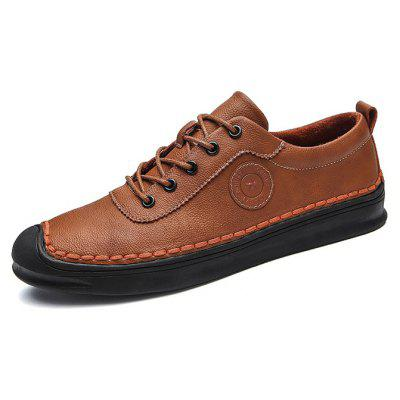 Men Casual Daily Stitching Well-matched Oxford ShoesMen's Oxford<br>Men Casual Daily Stitching Well-matched Oxford Shoes<br><br>Closure Type: Lace-Up<br>Contents: 1 x Pair of Shoes, 1 x Box<br>Function: Slip Resistant<br>Materials: Rubber, Microfiber Leather<br>Occasion: Tea Party, Party, Office, Holiday, Shopping, Casual, Daily<br>Outsole Material: Rubber<br>Package Size ( L x W x H ): 30.00 x 20.00 x 10.00 cm / 11.81 x 7.87 x 3.94 inches<br>Package weight: 0.7500 kg<br>Pattern Type: Solid<br>Product weight: 0.7000 kg<br>Seasons: Autumn,Spring<br>Style: Modern, Leisure, Fashion, Comfortable, Casual<br>Toe Shape: Round Toe<br>Type: Casual Leather Shoes<br>Upper Material: Microfiber Leather