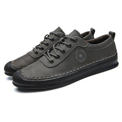 Men Casual Daily Stitching Well-matched Oxford Shoes