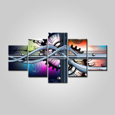 Jingsheng Abstract Pattern Frameless Canvas Print 5PCS