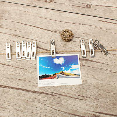 HESSION Stainless Steel Clip for Photos Clothes Towels 20PCS
