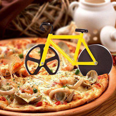 HESSION Creative Bike Shaped Pizza Cutter with 2 Cutting Wheel