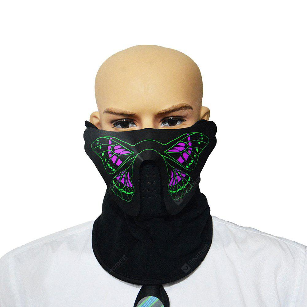 015 LED Voice-controlled Cycling Face Protective Mask