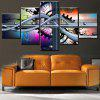 Jingsheng Abstract Pattern Frameless Canvas Print 5PCS - COLORI MISTI