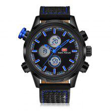 MINI FOCUS MF0066G Genuine Leather Band Men Watch