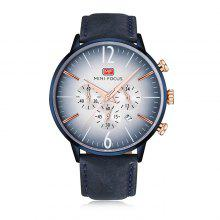 MINI FOCUS MF0114G Genuine Leather Band Men Watch