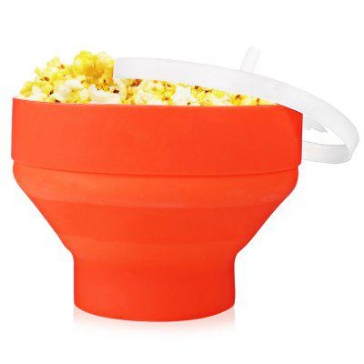 Silicone Collapsible Microwave Popcorn Maker - RED