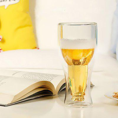 Creative 350ml Double Wall Insulated Glass Cup