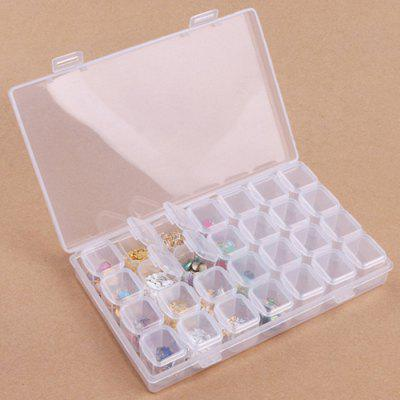 XM Nails Storage Box 28-grid Paillette Rhinestone Case
