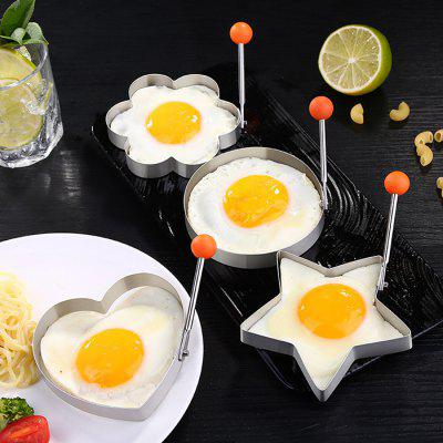 Stainless Steel Fried Egg Mold Creative Pancake Shaper 4PCS