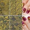 XM DIY Nails Sticker Goud Reliëf Fringe Art Decals 8PCS - GOUDEN