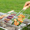 Multifunction Extendable Iron Wire Barbecue Grill Basket - SILVER