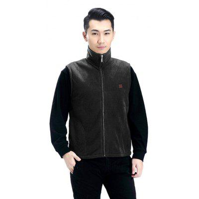 Stand Collar Solid Color Electric Heated Vest