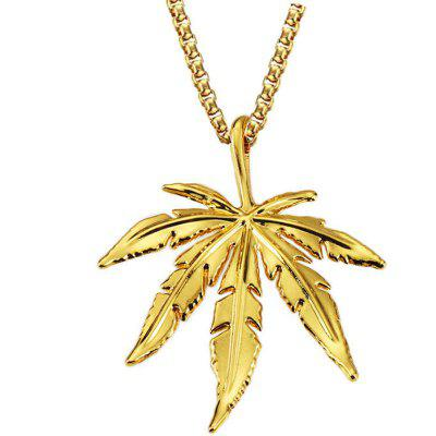 Chic Leaf Pendant Unisex Necklace