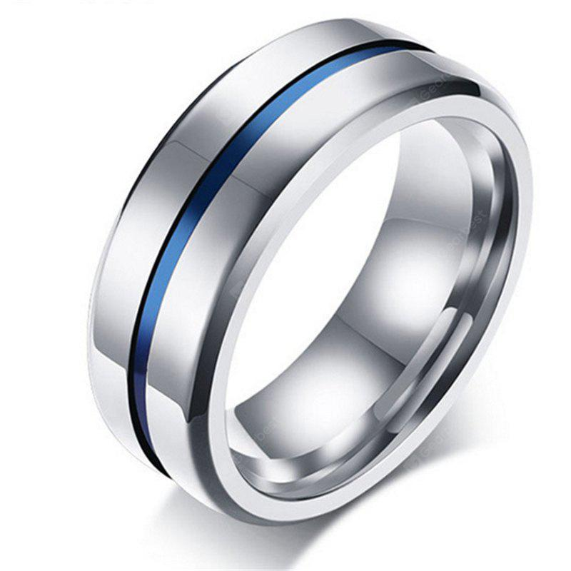 8mm Stainless Steel Thin Line Polished Ring for Men