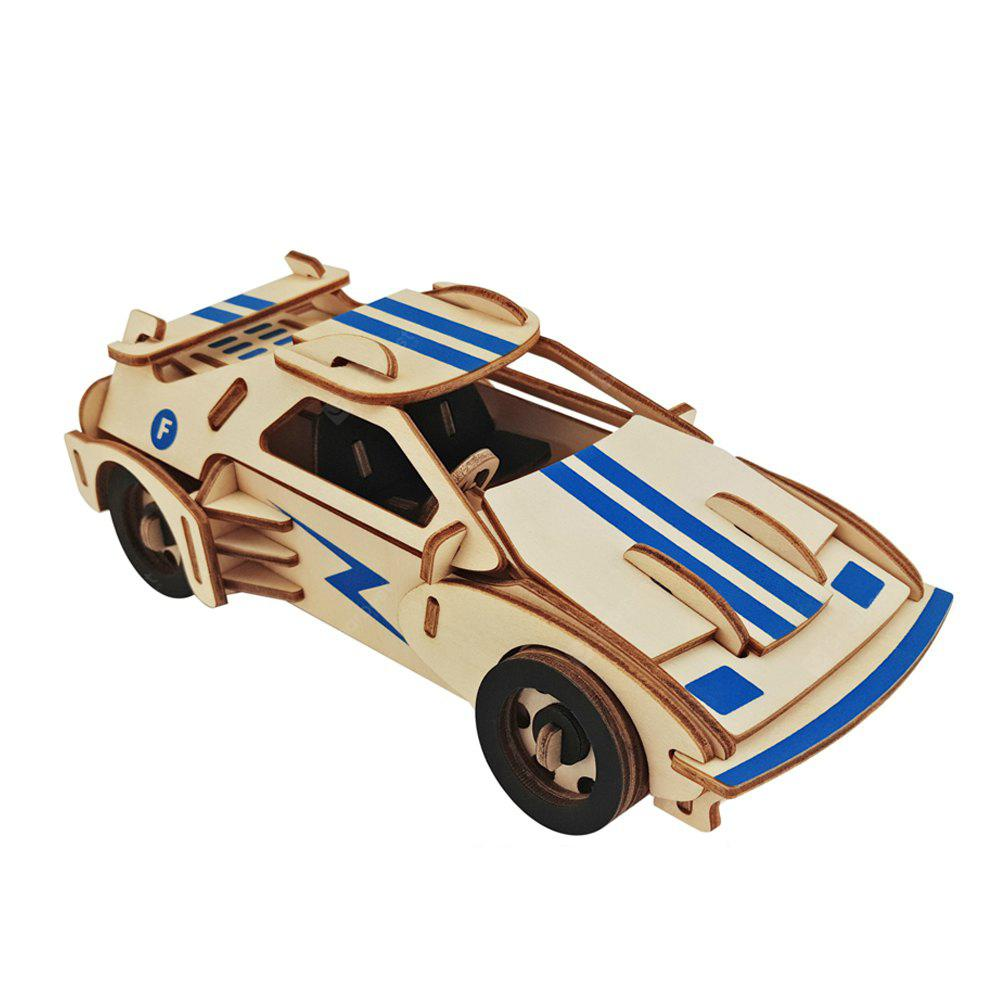 Wooden 3D DIY Sports Car Intelligence Toy