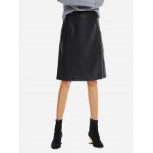 Washed Leather Skirt