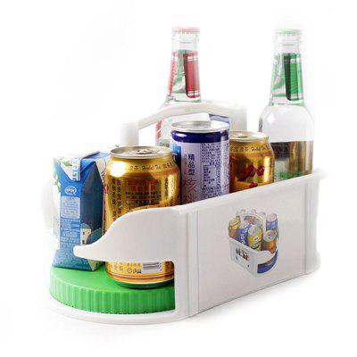 Rotatable Fridge Organizer Spice Drink Holder