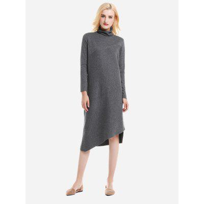Turtleneck Collar Dress